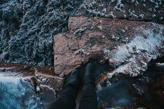 巴伦支海冬天海岸 免版税库存照片