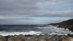 巴伦支海的兴奋在离俄罗斯的海岸的附近 影视素材