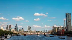 伦敦、泰晤士、南银行和城市 股票视频