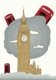 伦敦传染媒介例证 库存照片