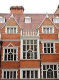 伦敦传统红砖大厦 库存照片