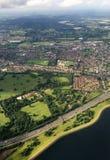 伦敦农村鸟瞰图  库存图片