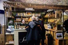 伦敦冬天口味在烟草船坞的 免版税图库摄影