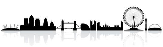 伦敦剪影地平线 免版税库存照片