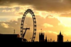 伦敦剪影,英国的首都 库存图片