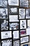 伦敦占用抗议者墙壁 免版税图库摄影