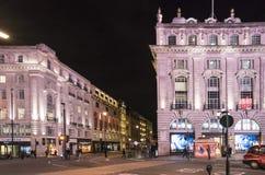 伦敦卡迪里街角-伦敦,英国-英国- 2016年2月22日 图库摄影