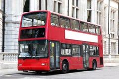 伦敦双层汽车红色公共汽车 库存照片