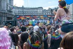 伦敦同性恋自豪日游行2017年 库存照片