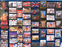 伦敦和英国的不同的明信片 免版税图库摄影