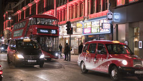 伦敦唐人街在夜伦敦英国之前 库存图片