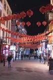 伦敦唐人街在夜伦敦英国之前 库存照片