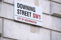 伦敦唐宁街 免版税库存图片