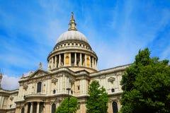 伦敦圣保罗Pauls大教堂在英国 库存照片