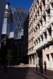 伦敦在十字架线的市视图对Leadenhall大厦 图库摄影