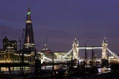 伦敦在晚上之前 免版税库存照片