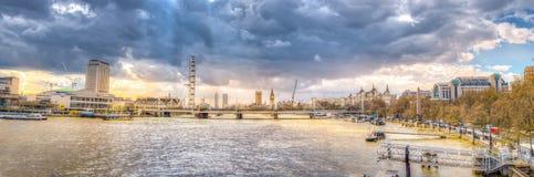 伦敦地平线全景 免版税库存照片