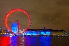 伦敦地平线和Thame河 库存图片