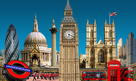 伦敦地平线地标大厦 免版税库存照片