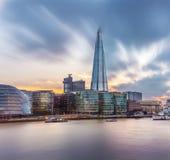 伦敦地平线如被看见从塔桥梁 库存照片