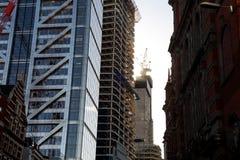 伦敦地平线建筑冬天天空 库存照片