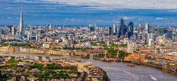 伦敦地平线鸟瞰图  免版税库存图片