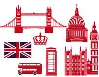 伦敦地标图表 图库摄影