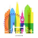 伦敦地标 向量例证