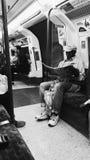 伦敦地铁乘客 免版税图库摄影