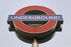 伦敦地铁标志 图库摄影