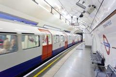 伦敦地铁车站 库存照片