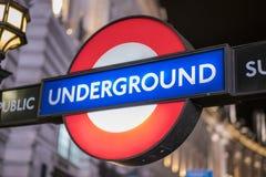 伦敦地铁驻地伦敦英国 库存照片