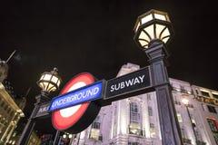 伦敦地铁驻地皮卡迪利广场伦敦,英国-英国- 2016年2月22日 库存图片