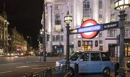 伦敦地铁驻地皮卡迪利广场伦敦,英国-英国- 2016年2月22日 免版税库存照片