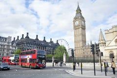 伦敦场面街道 免版税库存照片