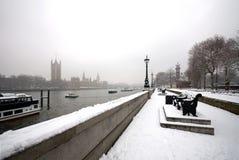 伦敦场面雪 免版税库存照片