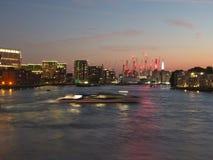 伦敦城市地平线黄昏的 免版税库存照片