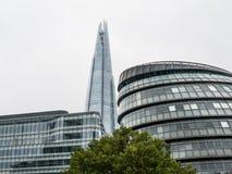伦敦城镇厅和碎片 库存照片