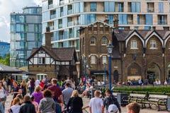 伦敦塔商店在伦敦,英国 库存照片