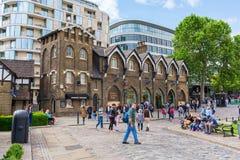 伦敦塔商店在伦敦,英国 库存图片