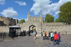 伦敦塔在伦敦市-伦敦英国 免版税库存照片