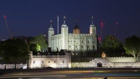 伦敦塔在晚上,英国 库存图片