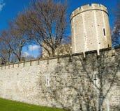 伦敦塔墙壁-盐T 库存照片
