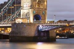 伦敦塔桥梁细节  库存照片