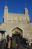 伦敦塔的中世纪堡垒 图库摄影