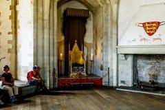 伦敦塔的中世纪宫殿屋子 库存照片