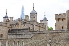 伦敦塔,中世纪防御建设,伦敦,英国 免版税图库摄影