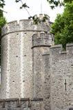 伦敦塔,中世纪防御建设,伦敦,英国 库存照片