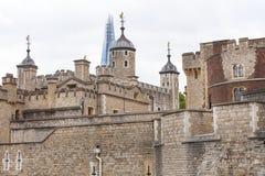 伦敦塔,中世纪防御建设,伦敦,英国 免版税库存照片