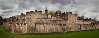 伦敦塔,英国。历史的堡垒 图库摄影